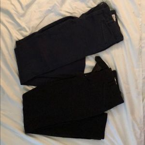 Gap Skinny Ankle, lot of two (navy and black)
